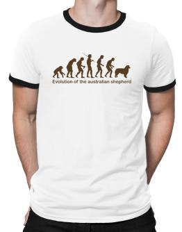 Evolution Of The Australian Shepherd Ringer T-Shirt