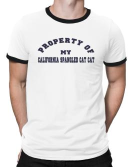 Property Of My California Spangled Cat Ringer T-Shirt