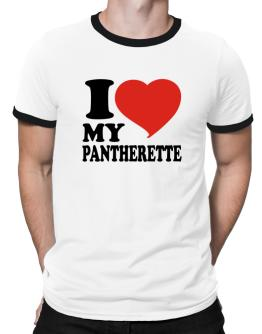 I Love My Pantherette Ringer T-Shirt