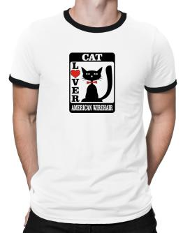 Cat Lover - American Wirehair Ringer T-Shirt