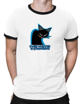 Pussy Whipped By My Pantherette Ringer T-Shirt