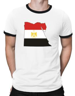 Egypt - Country Map Color Simple Ringer T-Shirt