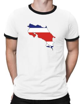 Costa Rica - Country Map Color Simple Ringer T-Shirt