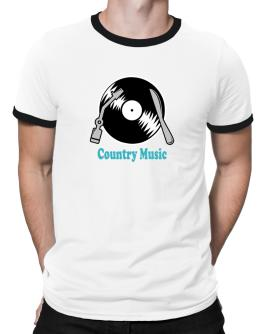 Country Music - Lp Ringer T-Shirt