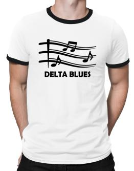 Delta Blues - Musical Notes Ringer T-Shirt
