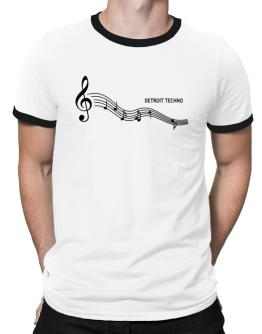 Detroit Techno - Notes Ringer T-Shirt
