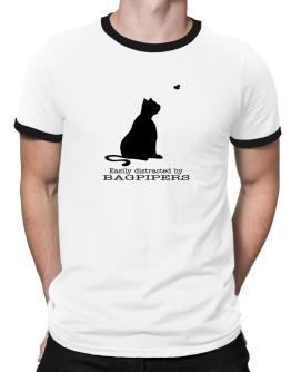 Easily Distracted By Bagpipers Ringer T-Shirt