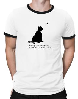 Easily Distracted By Handbells Players Ringer T-Shirt