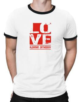 Love Albanian Orthodoxy Ringer T-Shirt