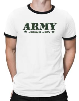 Army Jesus Jew Ringer T-Shirt