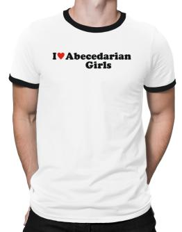 I Love Abecedarian Girls Ringer T-Shirt