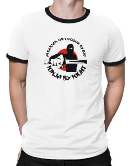 Albanian Orthodox By Day, Ninja By Night Ringer T-Shirt