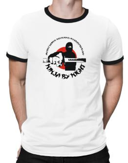 Ancient Semitic Religions Interested By Day, Ninja By Night Ringer T-Shirt