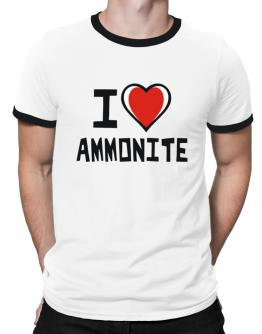 I Love Ammonite Ringer T-Shirt