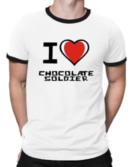 I Love Chocolate Soldier Ringer T-Shirt