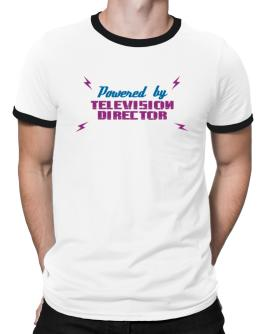 Powered By Television Director Ringer T-Shirt
