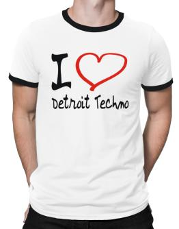 I Love Detroit Techno Ringer T-Shirt