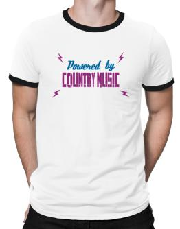 Powered By Country Music Ringer T-Shirt
