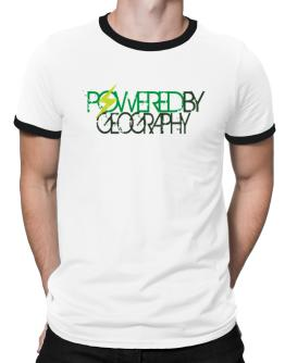Powered By Geography Ringer T-Shirt