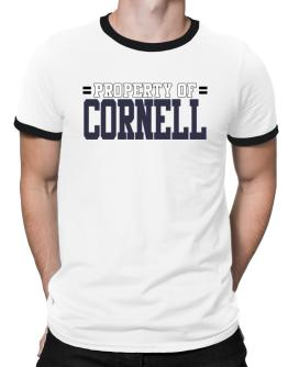""" Property of Cornell "" Ringer T-Shirt"