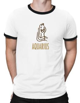 Aquarius - Cartoon Ringer T-Shirt