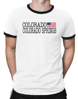 Colorado Springs State Ringer T-Shirt