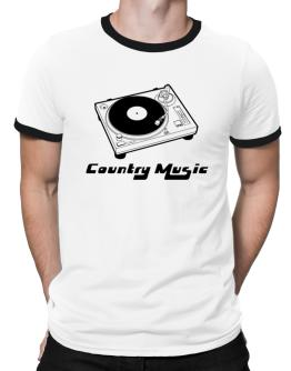 Retro Country Music - Music Ringer T-Shirt
