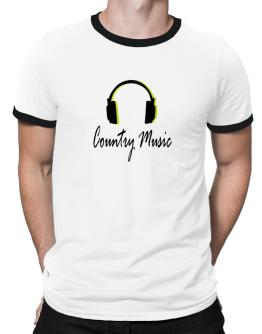 Listen Country Music Ringer T-Shirt