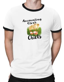 Accounting Clerk chicks Ringer T-Shirt