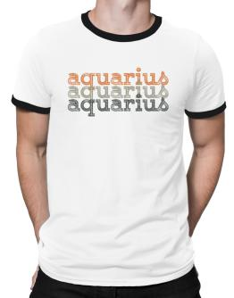 Aquarius repeat retro Ringer T-Shirt