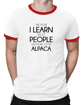 The more I learn about people the more I love my Alpaca Ringer T-Shirt