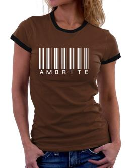""" Amorite - Single Barcode "" Women Ringer T-Shirt"