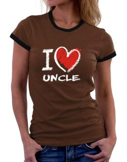 I love Auncle chalk style Women Ringer T-Shirt