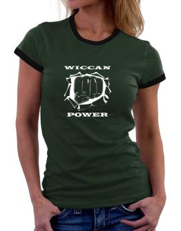 Wiccan Power Women Ringer T-Shirt