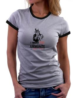 I Want You To Speak Ammonite Or Get Out! Women Ringer T-Shirt
