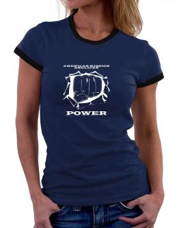 American Mission Anglican Power Women Ringer T-Shirt