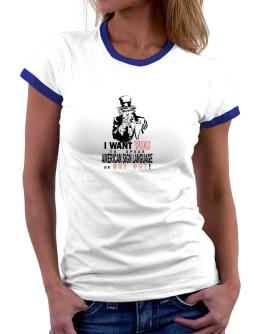 I Want You To Speak American Sign Language Or Get Out! Women Ringer T-Shirt