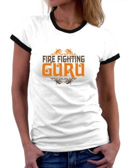 Fire Fighting Guru Women Ringer T-Shirt