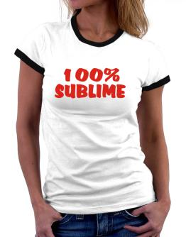 100% Sublime Women Ringer T-Shirt