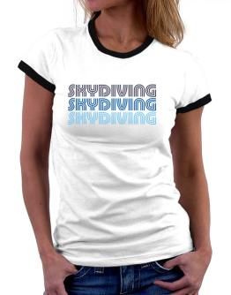 Skydiving Retro Color Women Ringer T-Shirt