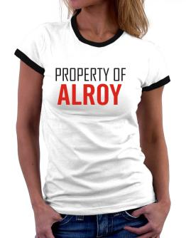 Property Of Alroy Women Ringer T-Shirt