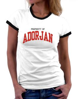 Property Of Adorjan Women Ringer T-Shirt