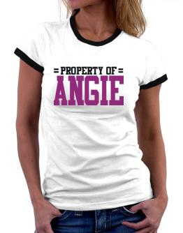 Property Of Angie Women Ringer T-Shirt