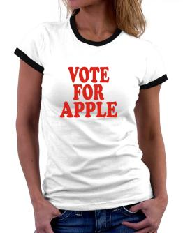 Vote For Apple Women Ringer T-Shirt