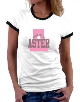Property Of Aster Women Ringer T-Shirt
