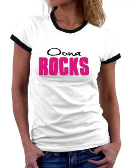Oona Rocks Women Ringer T-Shirt