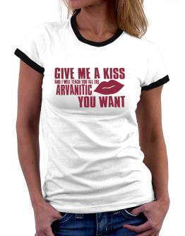Give Me A Kiss And I Will Teach You All The Arvanitic You Want Women Ringer T-Shirt