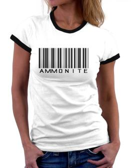 Ammonite Barcode Women Ringer T-Shirt