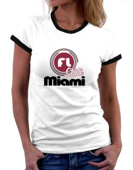 Miami - State Women Ringer T-Shirt