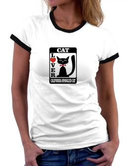 Cat Lover - California Spangled Cat Women Ringer T-Shirt